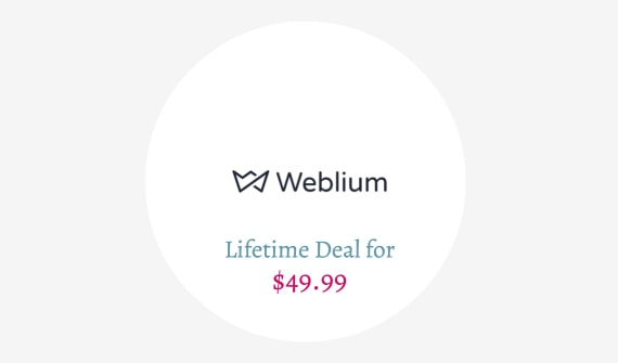 Weblium Lifetime Deal