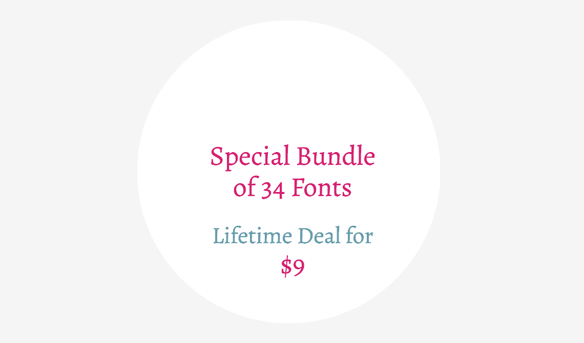fonts lifetime deal