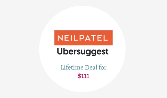 Neil Patel's Ubersuggest Lifetime Deal